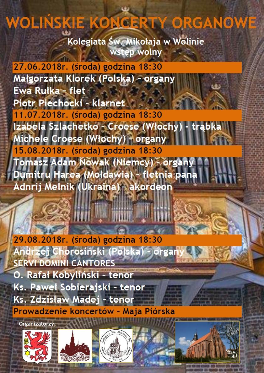 Wolińskie koncerty 2018