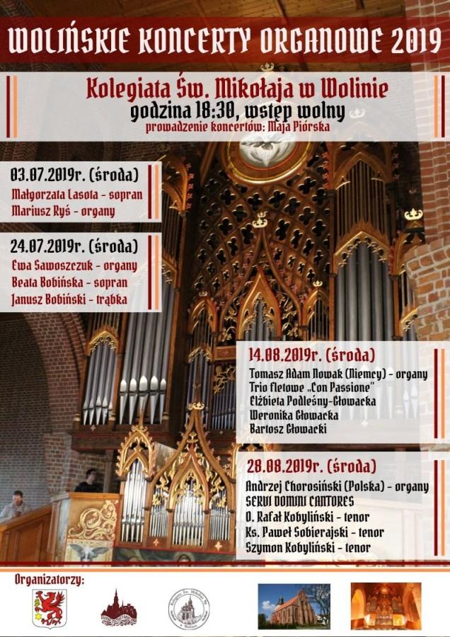 Wolińskie Koncerty Organowe 2019